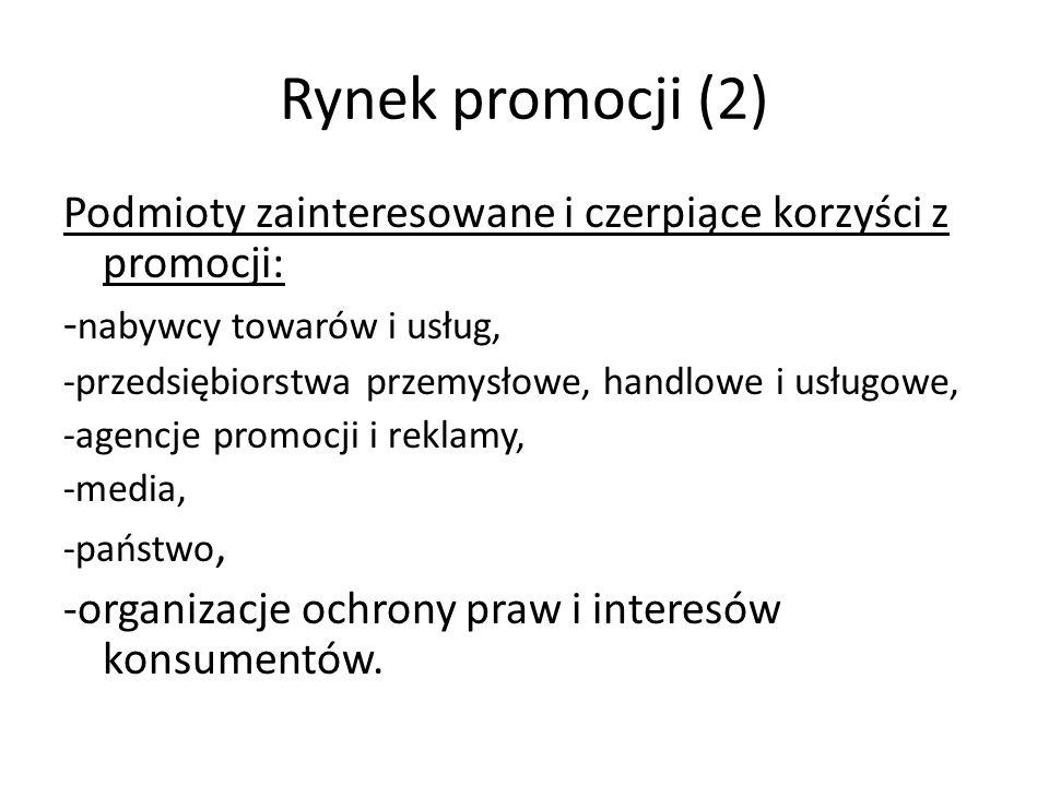 Osiem kluczy do sukcesu promocji (wg T.Sztuckiego) 1.Jaki jest cel promocji.