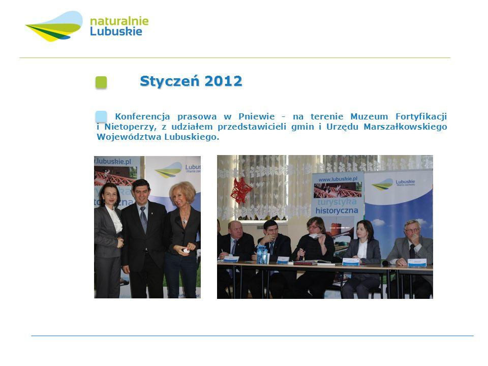 Styczeń 2012 Konferencja prasowa w Pniewie - na terenie Muzeum Fortyfikacji i Nietoperzy, z udziałem przedstawicieli gmin i Urzędu Marszałkowskiego Wo