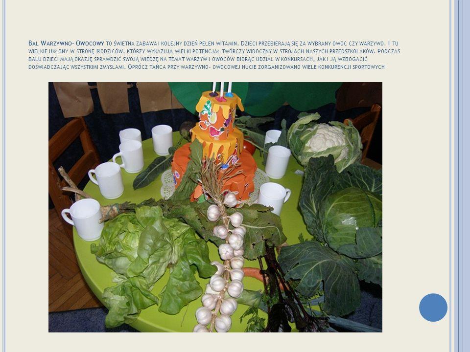 N A BALU POJAWIŁO SIĘ WIELU SMACZNYCH GOŚCI … Zabawa trwa Konkurencje na temat owoców