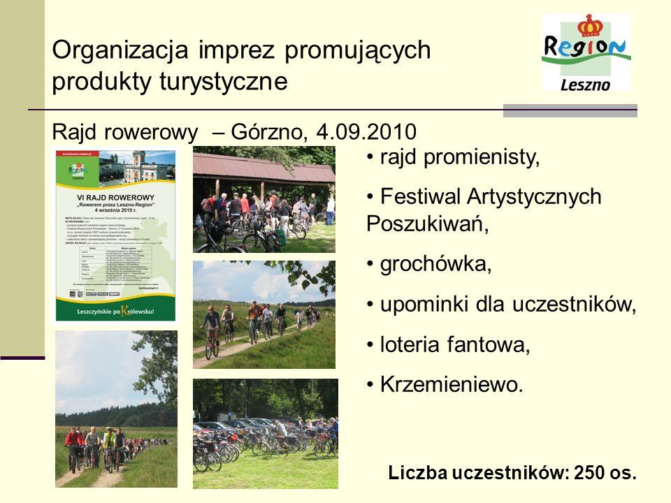 Organizacja imprez promujących produkty turystyczne Rajd rowerowy – Górzno, 4.09.2010 rajd promienisty, Festiwal Artystycznych Poszukiwań, grochówka,