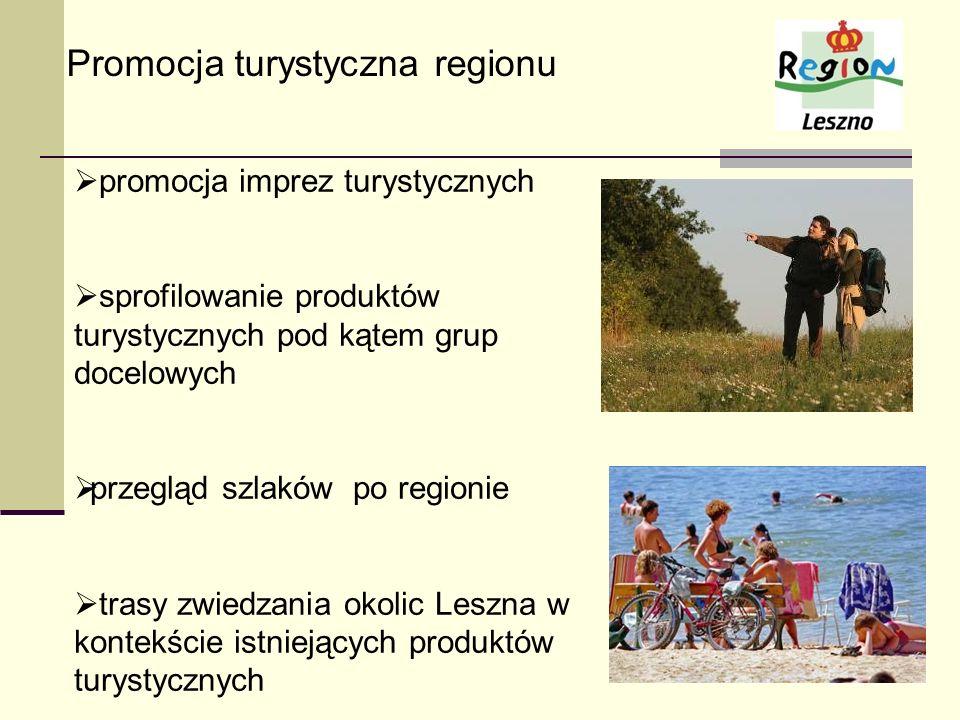 Promocja turystyczna regionu promocja imprez turystycznych sprofilowanie produktów turystycznych pod kątem grup docelowych przegląd szlaków po regioni