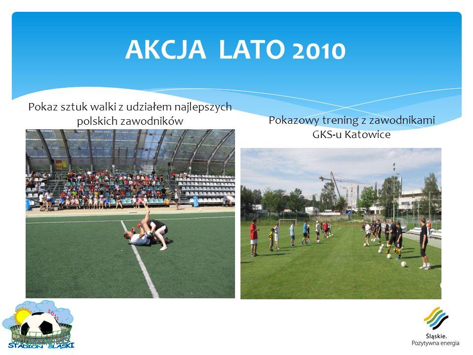 AKCJA LATO 2010 Pokaz sztuk walki z udziałem najlepszych polskich zawodników Pokazowy trening z zawodnikami GKS-u Katowice