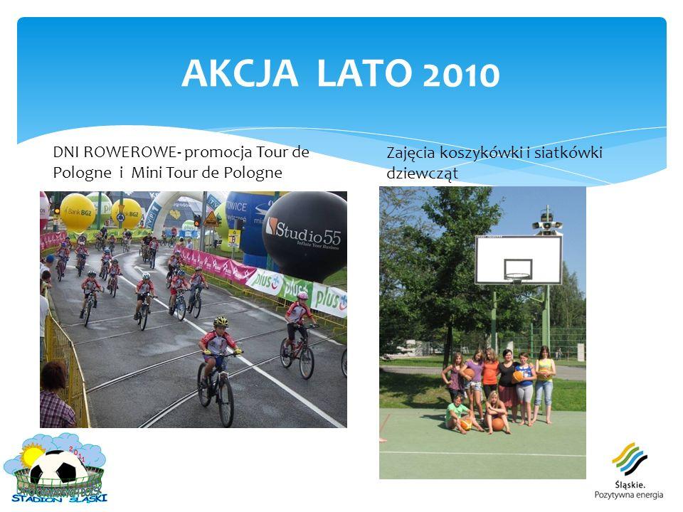 AKCJA LATO 2010 DNI ROWEROWE- promocja Tour de Pologne i Mini Tour de Pologne Zajęcia koszykówki i siatkówki dziewcząt