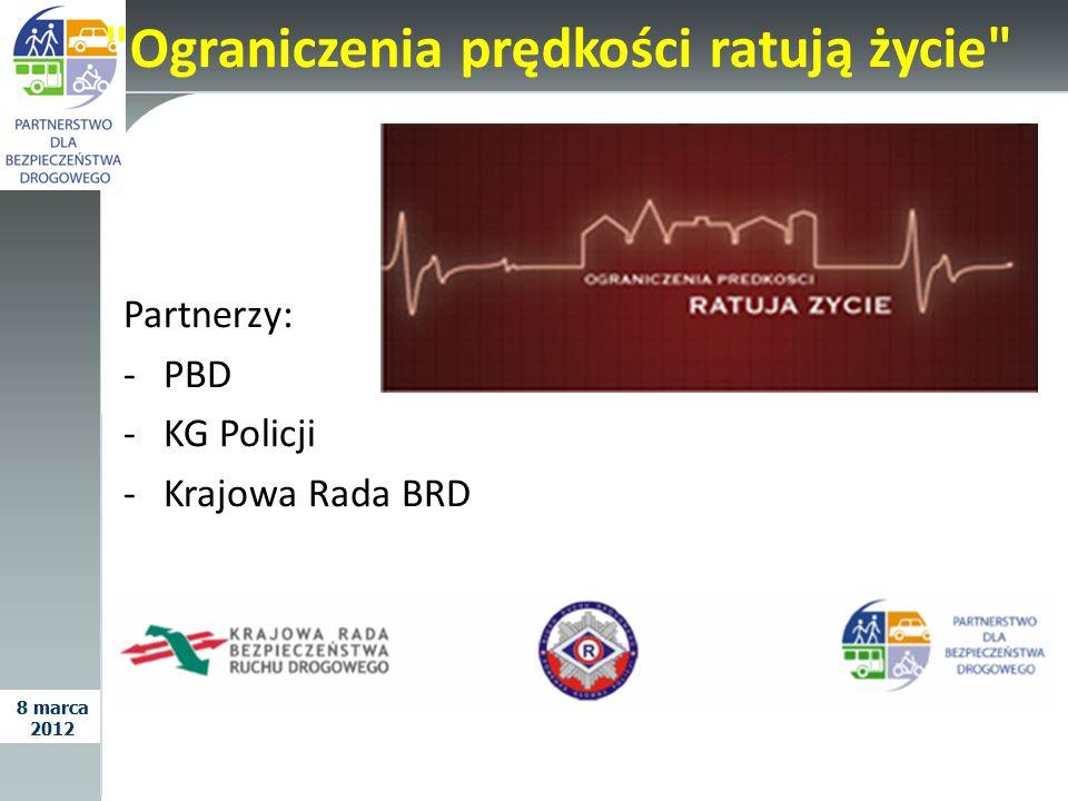 Kampania Wypadek to nie przypadek Partnerzy: -Krajowa Rada BRD -PBD -KG Policji -WHO