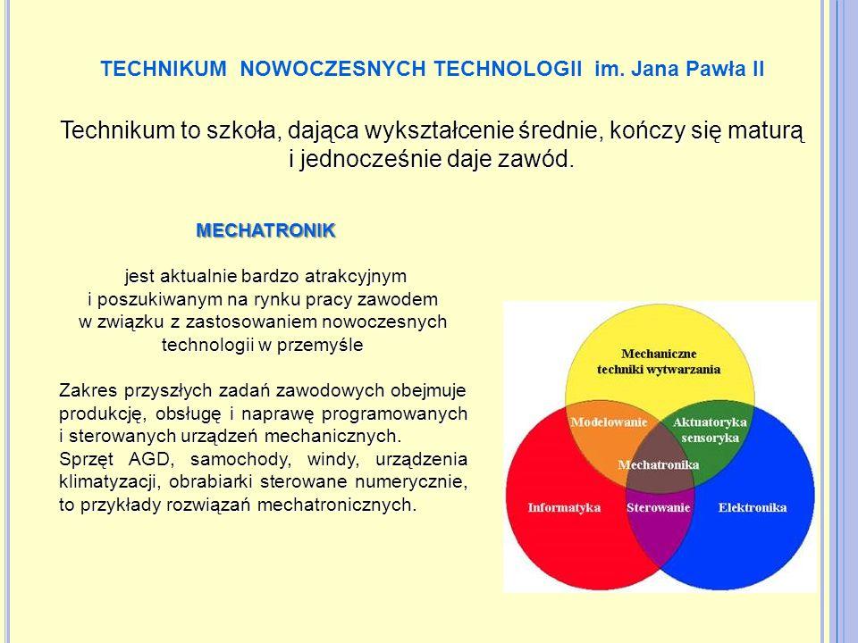 Przedmioty rozszerzone: matematyka, fizyka Języki obce: język angielski, język niemiecki, język angielski zawodowy Przedmioty uwzględnione w procesie rekrutacji: Język polski Matematyka Fizyka Informatyka Specjalizacje: 1.
