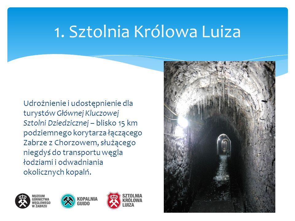1. Sztolnia Królowa Luiza Udrożnienie i udostępnienie dla turystów Głównej Kluczowej Sztolni Dziedzicznej – blisko 15 km podziemnego korytarza łączące