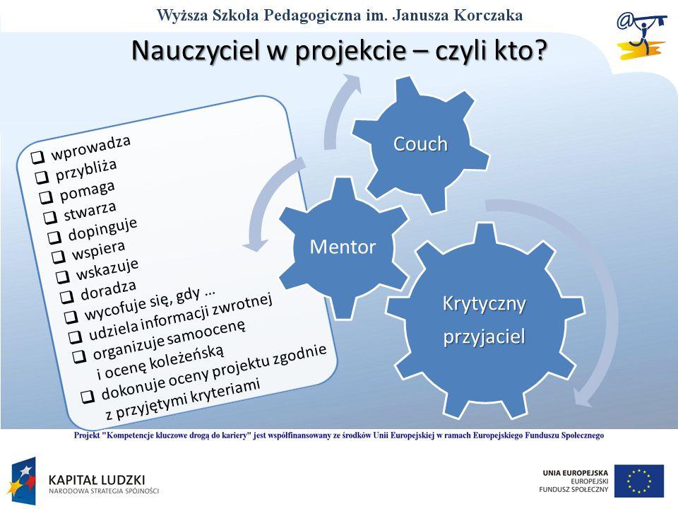 Nauczyciel w projekcie – czyli kto.