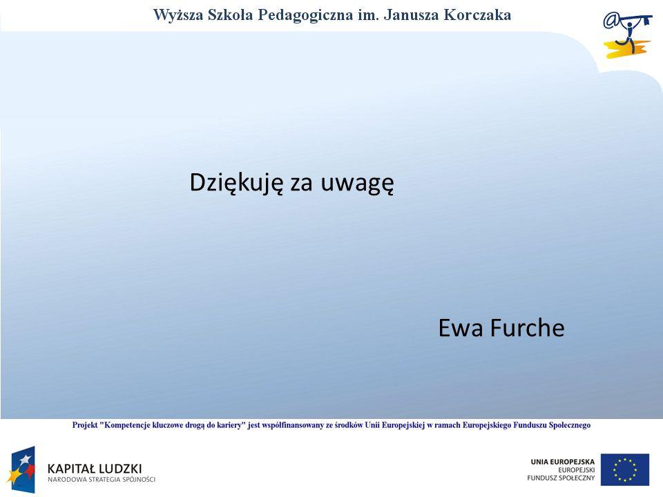 Dziękuję za uwagę Ewa Furche