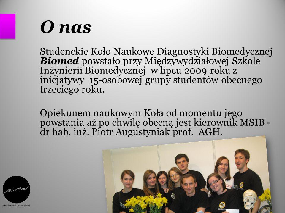 O nas Studenckie Koło Naukowe Diagnostyki Biomedycznej Biomed powstało przy Międzywydziałowej Szkole Inżynierii Biomedycznej w lipcu 2009 roku z inicj