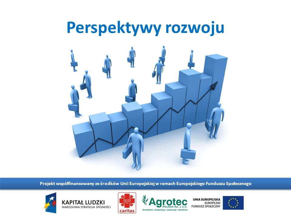 Perspektywy rozwoju Projekt współfinansowany ze środków Unii Europejskiej w ramach Europejskiego Funduszu Społecznego