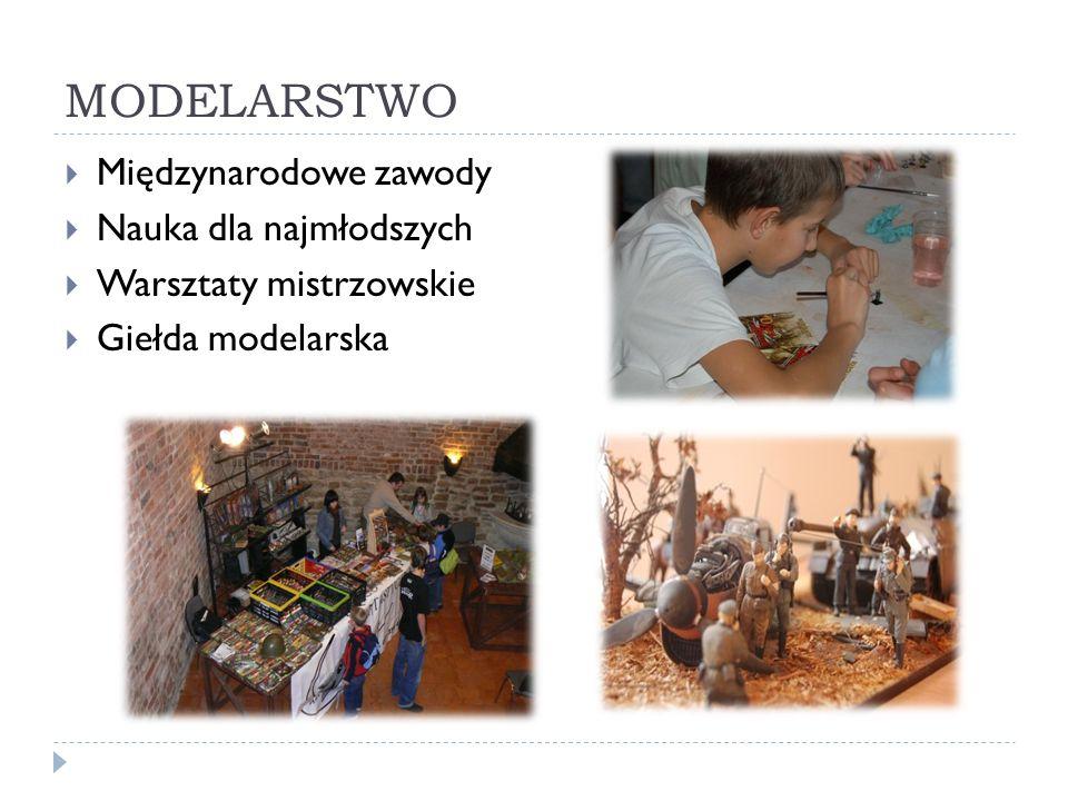 MODELARSTWO Międzynarodowe zawody Nauka dla najmłodszych Warsztaty mistrzowskie Giełda modelarska