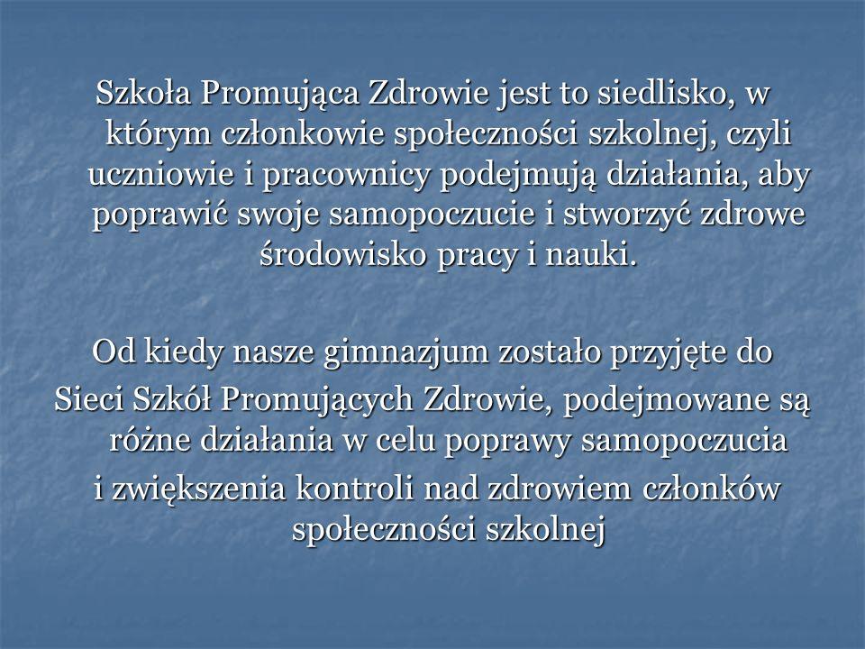 Działania SzPZ w roku 2008/2009 Hasło przewodnie: NIE KRZYCZ.