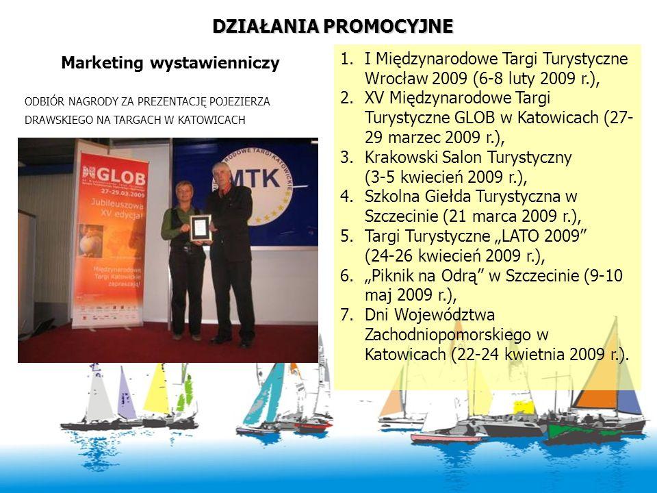 DZIAŁANIA PROMOCYJNE Marketing wystawienniczy 1.I Międzynarodowe Targi Turystyczne Wrocław 2009 (6-8 luty 2009 r.), 2.XV Międzynarodowe Targi Turystyc
