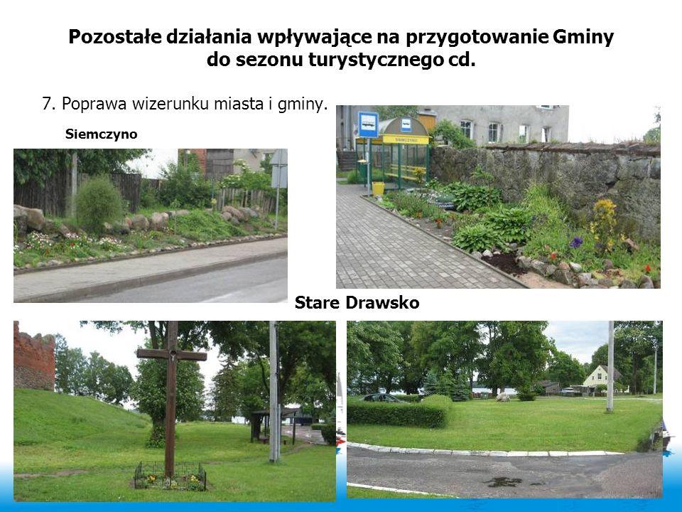 Pozostałe działania wpływające na przygotowanie Gminy do sezonu turystycznego cd. 7. Poprawa wizerunku miasta i gminy. Stare Drawsko Siemczyno