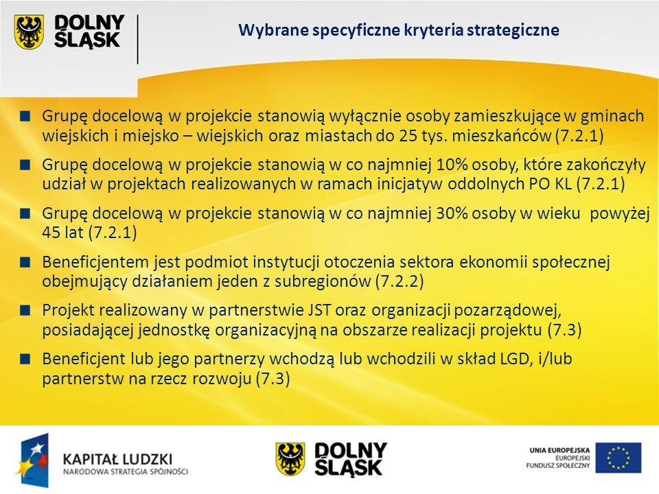 Wydział EFS Wrocław, sierpień 200 Grupę docelową w projekcie stanowią wyłącznie osoby zamieszkujące w gminach wiejskich i miejsko – wiejskich oraz miastach do 25 tys.