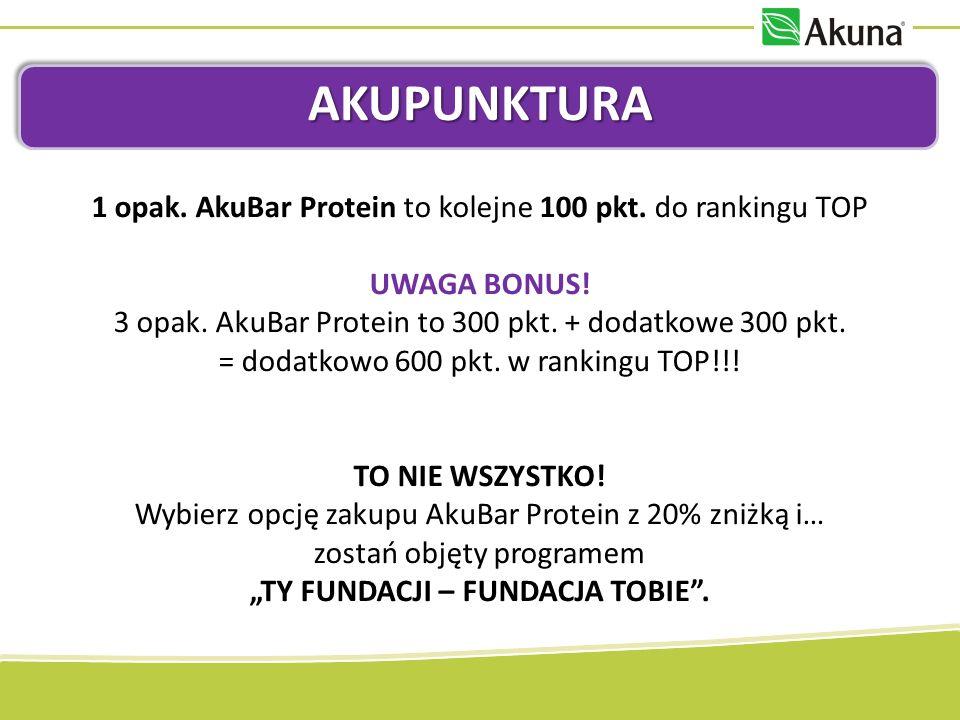AKUPUNKTURA 1 opak. AkuBar Protein to kolejne 100 pkt.