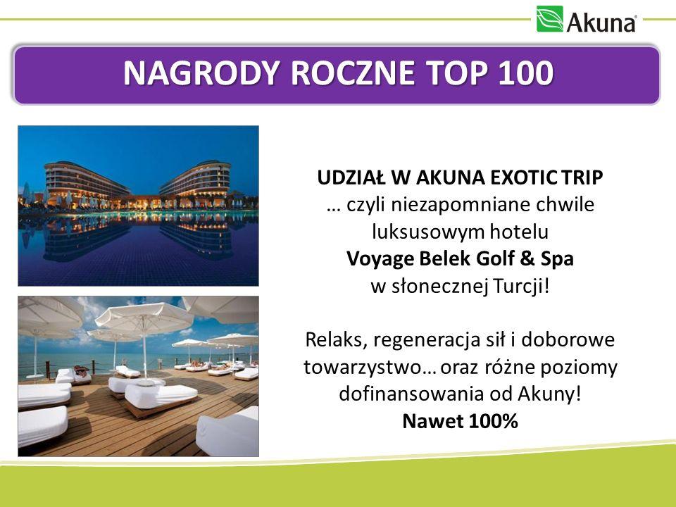 UDZIAŁ W AKUNA EXOTIC TRIP … czyli niezapomniane chwile luksusowym hotelu Voyage Belek Golf & Spa w słonecznej Turcji.