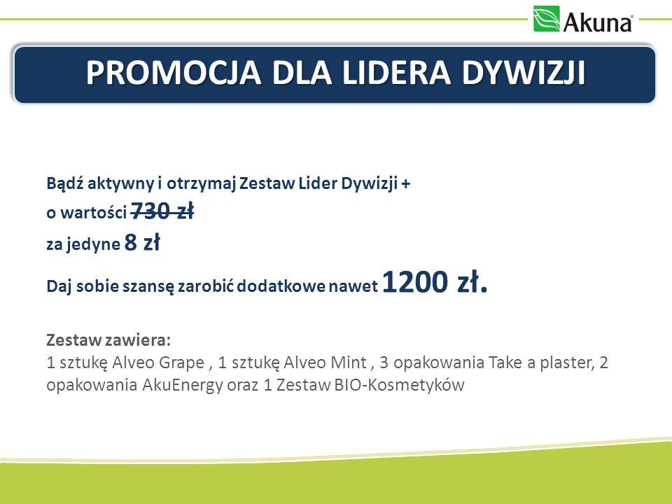 PROMOCJA DLA LIDERA DYWIZJI Bądź aktywny i otrzymaj Zestaw Lider Dywizji + o wartości 730 zł za jedyne 8 zł Daj sobie szansę zarobić dodatkowe nawet 1200 zł.