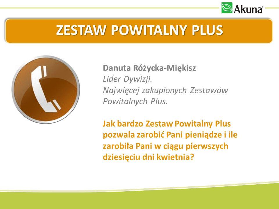 ZESTAW POWITALNY PLUS Danuta Różycka-Miękisz Lider Dywizji.