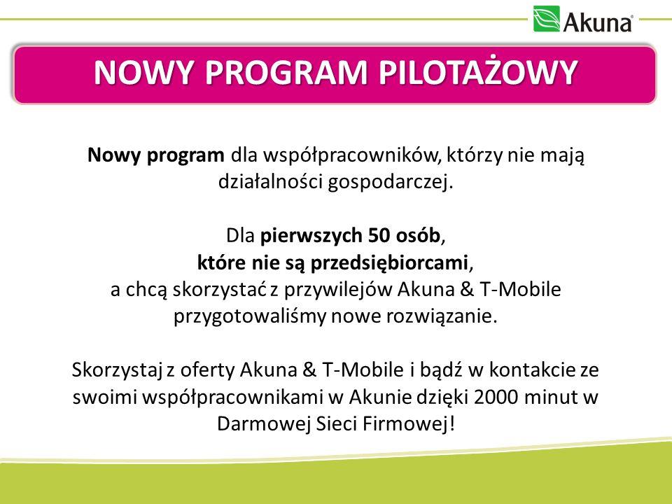 NOWY PROGRAM PILOTAŻOWY Nowy program dla współpracowników, którzy nie mają działalności gospodarczej.