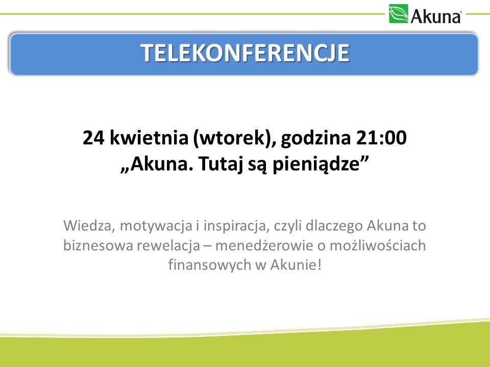 TELEKONFERENCJE 24 kwietnia (wtorek), godzina 21:00 Akuna.