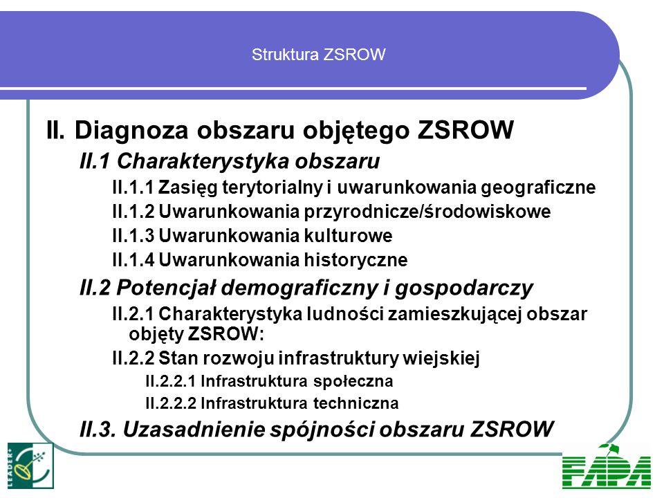 III.Aktualnie wdrażane inicjatywy/projekty na obszarze ZSROW IV.