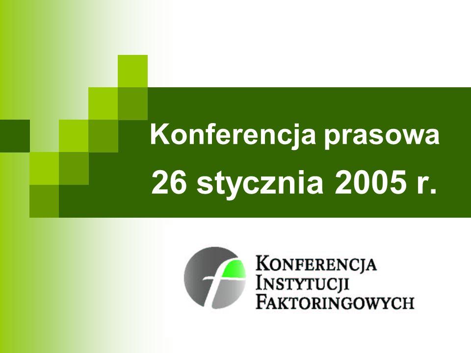 Działania KIF Mirosław Jakowiecki Przewodniczący Konferencji Instytucji Faktoringowych Prezes Zarządu Pekao Faktoring