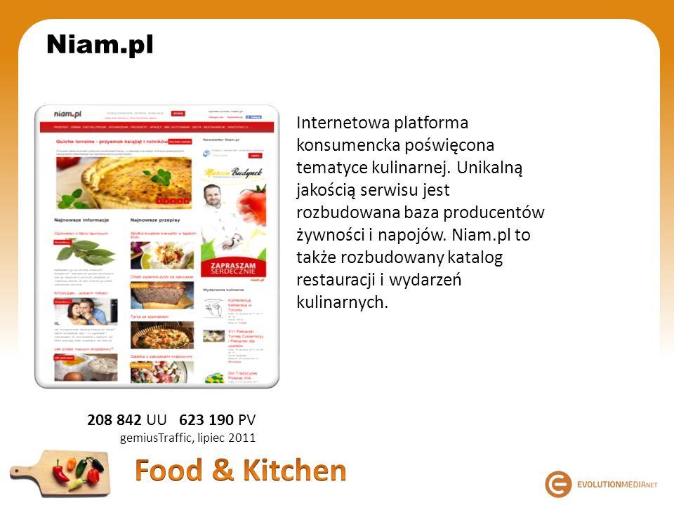 Internetowa platforma konsumencka poświęcona tematyce kulinarnej. Unikalną jakością serwisu jest rozbudowana baza producentów żywności i napojów. Niam