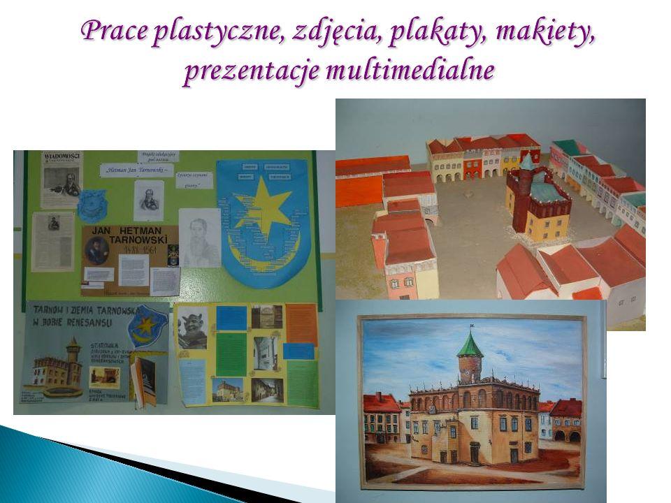 Prace plastyczne, zdjęcia, plakaty, makiety, prezentacje multimedialne