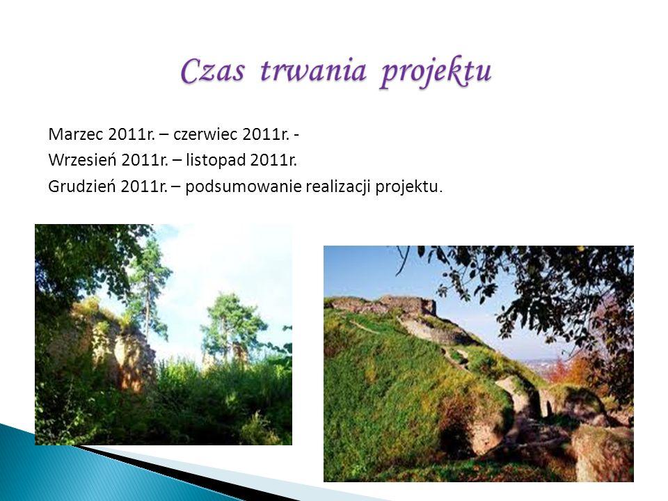 Marzec 2011r. – czerwiec 2011r. - Wrzesień 2011r. – listopad 2011r. Grudzień 2011r. – podsumowanie realizacji projektu.