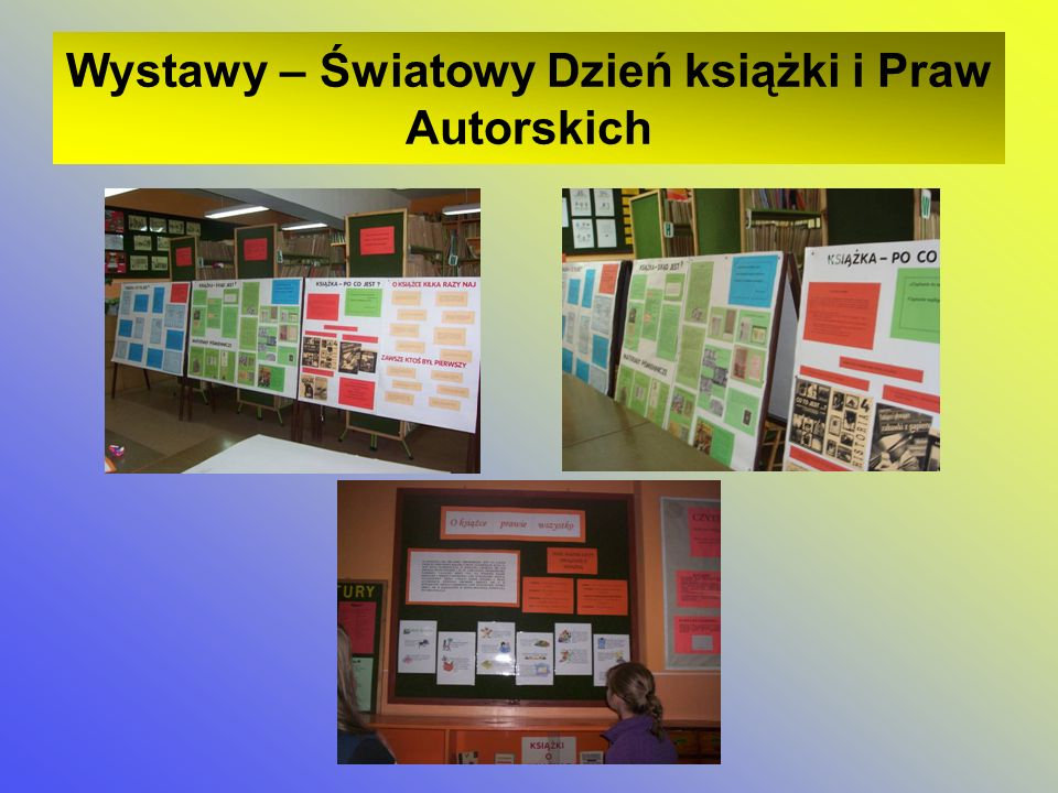 Wystawy – Światowy Dzień książki i Praw Autorskich