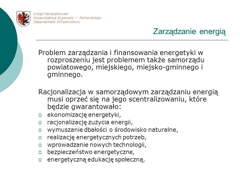 Zarządzanie energią Problem zarządzania i finansowania energetyki w rozproszeniu jest problemem także samorządu powiatowego, miejskiego, miejsko-gminn