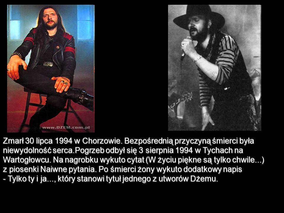 Zmarł 30 lipca 1994 w Chorzowie. Bezpośrednią przyczyną śmierci była niewydolność serca.Pogrzeb odbył się 3 sierpnia 1994 w Tychach na Wartogłowcu. Na