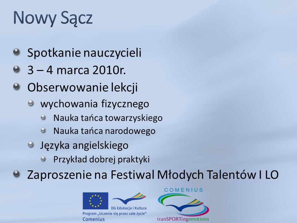 Spotkanie nauczycieli 3 – 4 marca 2010r.