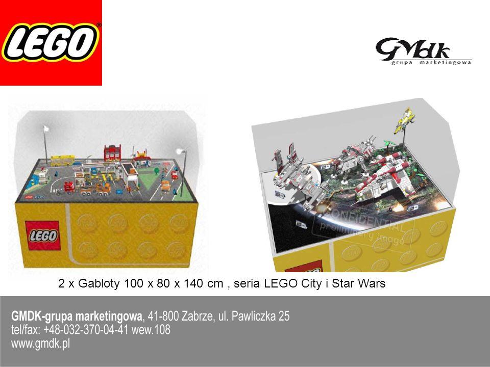Stolik LEGO, przeznaczony dla dzieci w wieku 2-14 lat; Posiada 4 wygodne siedziska, przy każdym z nich przymocowana jest płytka do budowania z klocków LEGO, a centralne wgłębienie służy do wsypania klocków;
