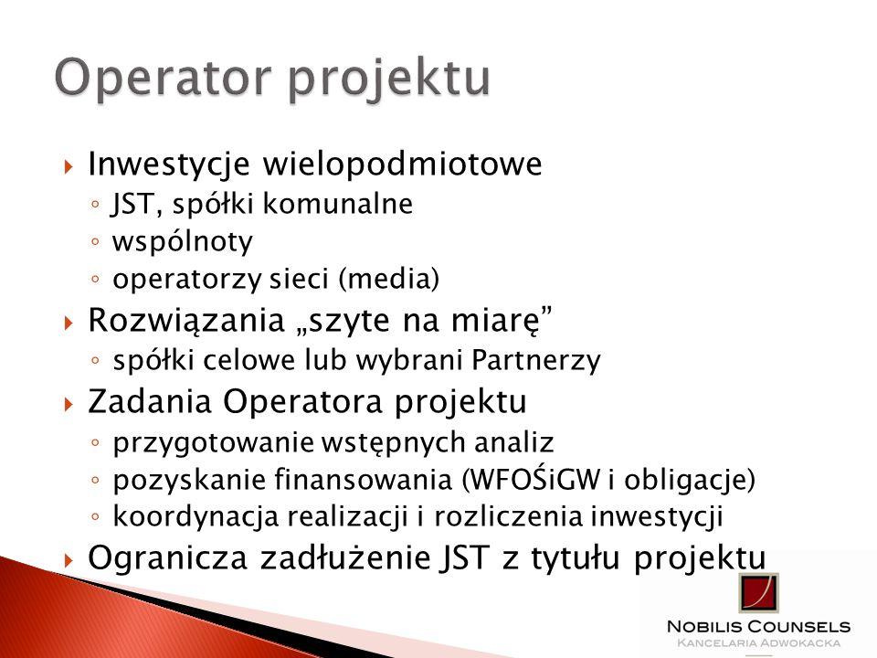 1.Kontakt z WFOŚiGW w Katowicach 2. Przygotowanie wstępnych analiz 3.