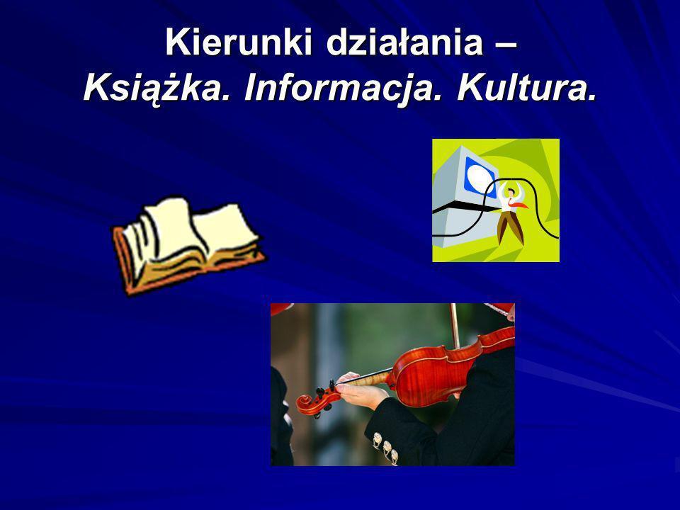 Kierunki działania – Książka. Informacja. Kultura.