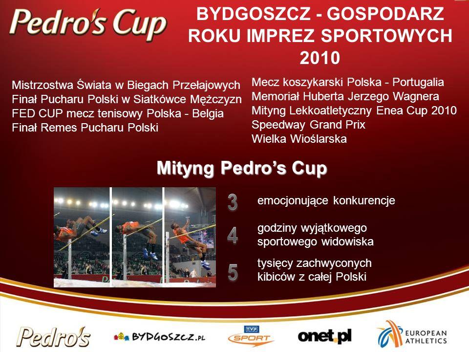 BYDGOSZCZ - GOSPODARZ ROKU IMPREZ SPORTOWYCH 2010 Mityng Pedros Cup emocjonujące konkurencje godziny wyjątkowego sportowego widowiska tysięcy zachwyco