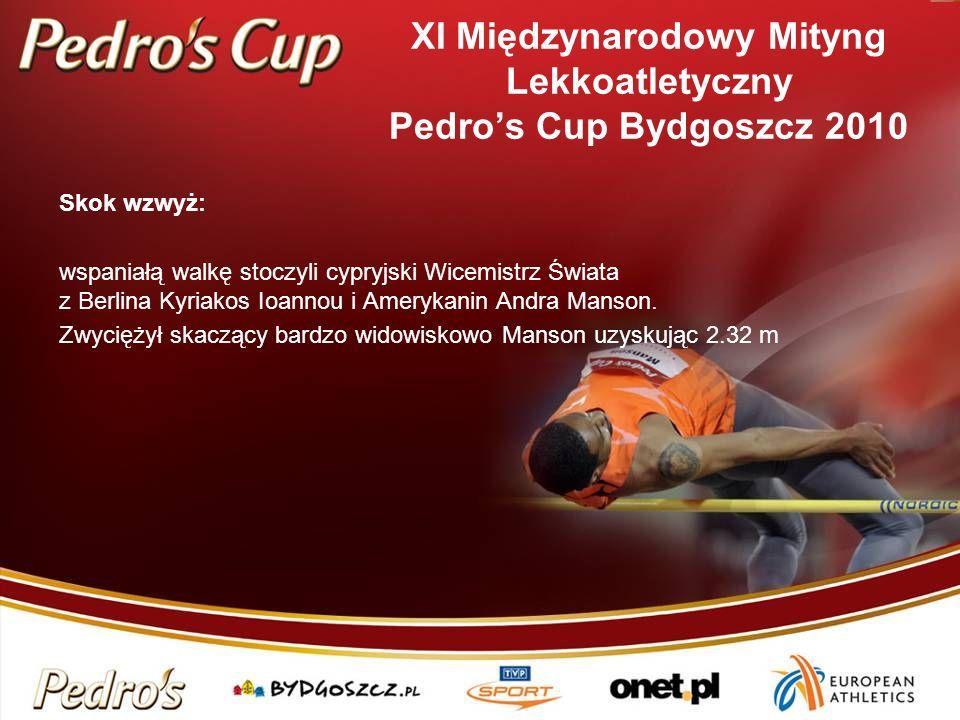 Skok wzwyż: wspaniałą walkę stoczyli cypryjski Wicemistrz Świata z Berlina Kyriakos Ioannou i Amerykanin Andra Manson. Zwyciężył skaczący bardzo widow