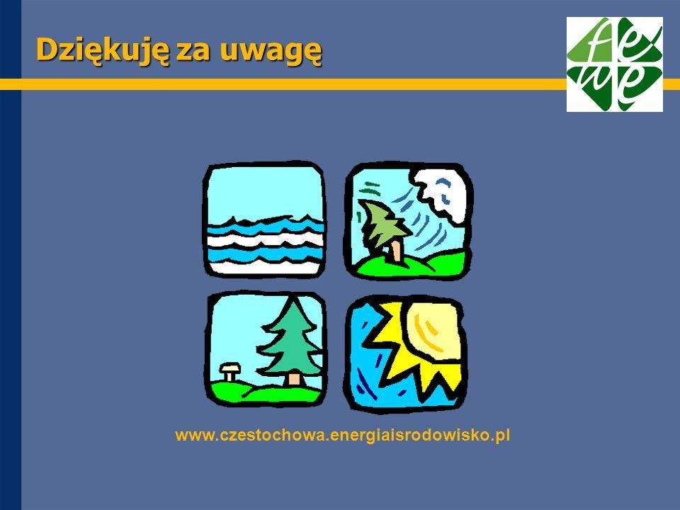 Dziękuję za uwagę www.czestochowa.energiaisrodowisko.pl