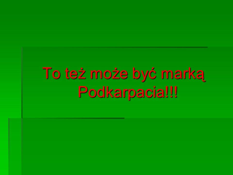 To też może być marką Podkarpacia!!!