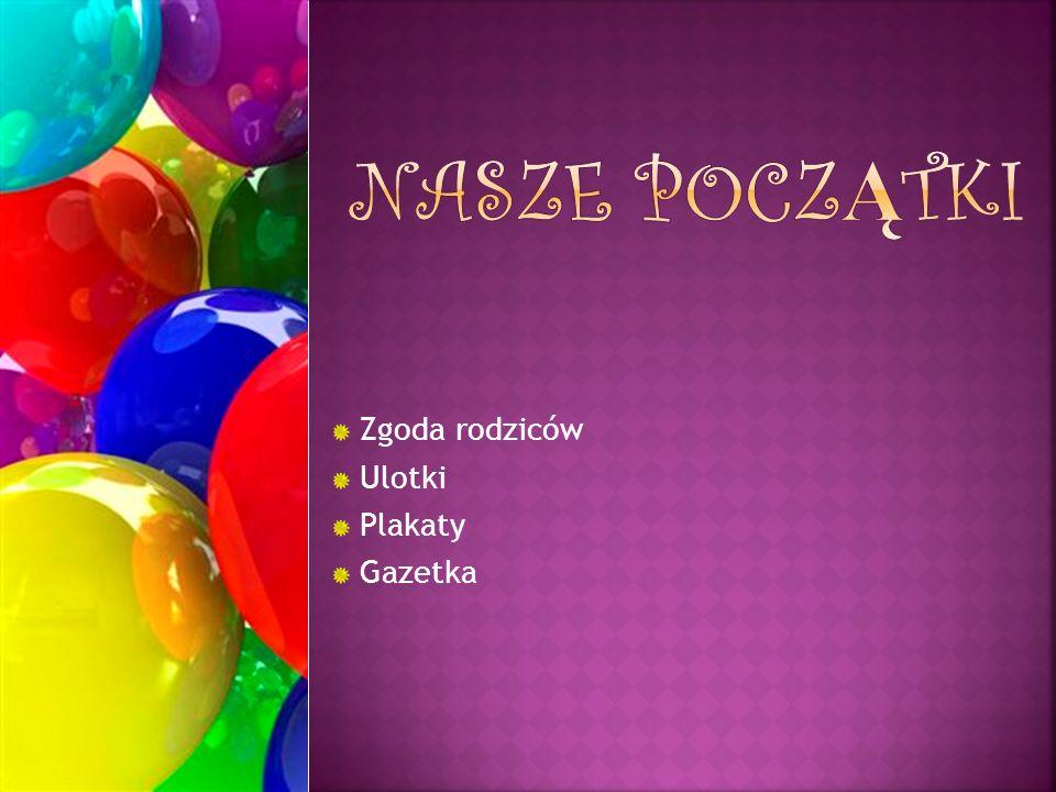 Zgoda rodziców Ulotki Plakaty Gazetka