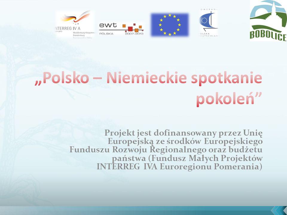 Projekt jest dofinansowany przez Unię Europejską ze środków Europejskiego Funduszu Rozwoju Regionalnego oraz budżetu państwa (Fundusz Małych Projektów INTERREG IVA Euroregionu Pomerania)