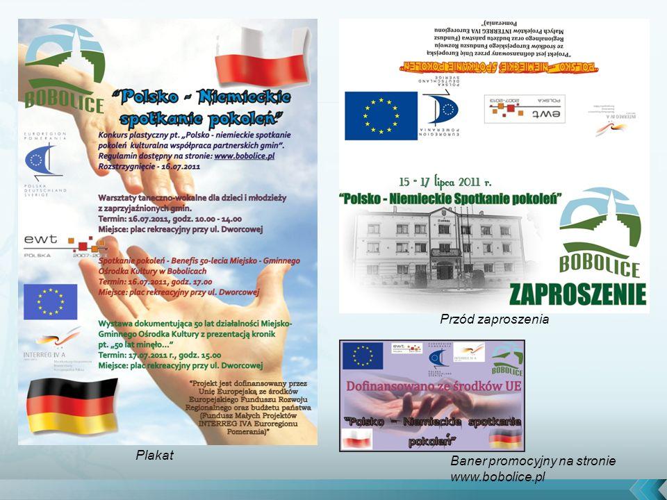 Plakat Przód zaproszenia Baner promocyjny na stronie www.bobolice.pl
