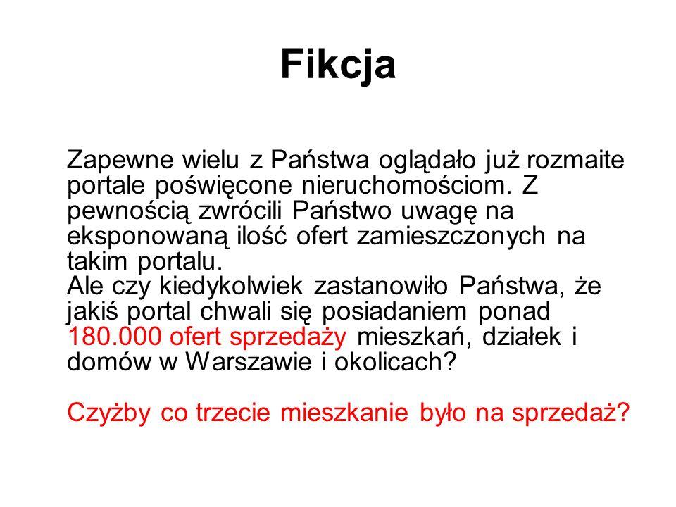 A oto fakty: a) Od połowy lat dziewięćdziesiątych liczba wszystkich aktów notarialnych sporządzanych w całej Polsce oscyluje około 1 miliona, z czego akty dokumentujące zmianę właściciela nieruchomości stanowią od 57 do 63 procent tej liczby.