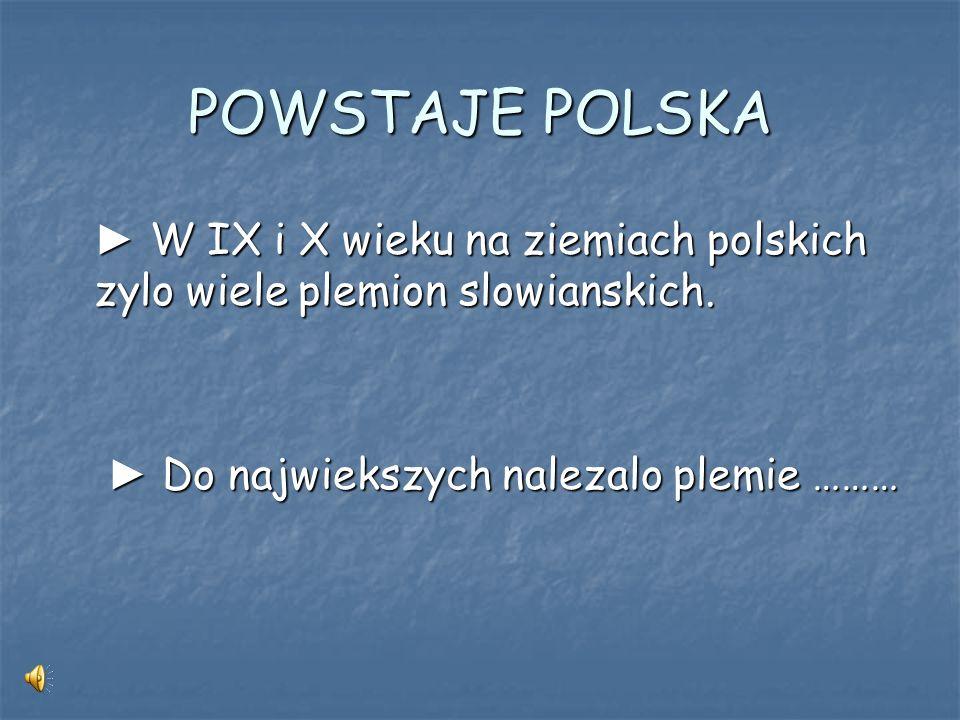 P O C Z Ą T K I P A Ń S T W A P O L S K I E G O