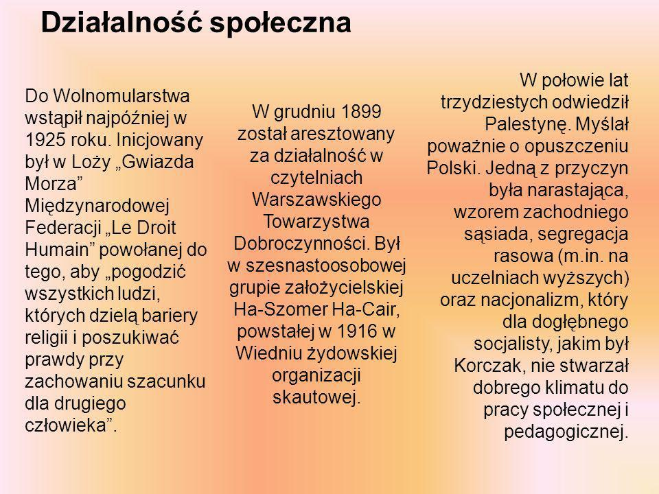 Pedagog Korczak był zwolennikiem emancypacji dziecka, jego samostanowienia i poszanowania praw.