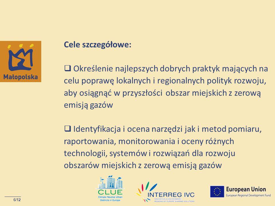 6/12 Cele szczegółowe: Określenie najlepszych dobrych praktyk mających na celu poprawę lokalnych i regionalnych polityk rozwoju, aby osiągnąć w przysz