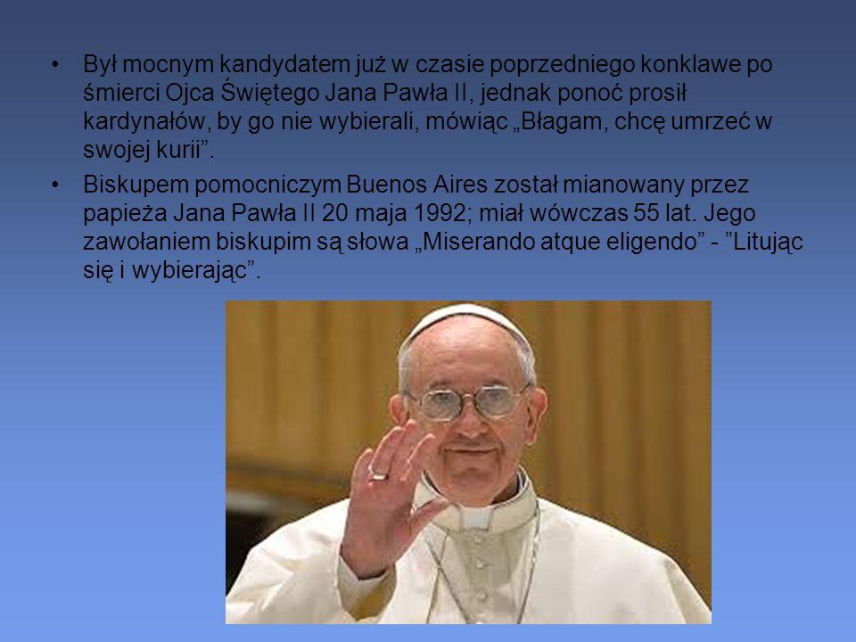 Był mocnym kandydatem już w czasie poprzedniego konklawe po śmierci Ojca Świętego Jana Pawła II, jednak ponoć prosił kardynałów, by go nie wybierali,