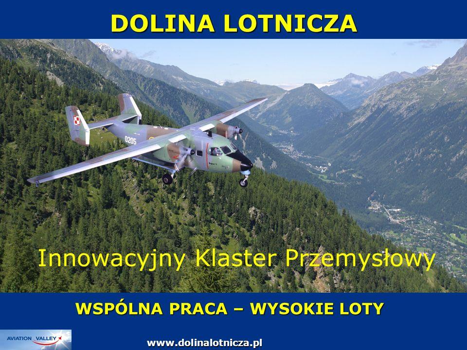 DOLINA LOTNICZA WSPÓLNA PRACA – WYSOKIE LOTY www.dolinalotnicza.pl Innowacyjny Klaster Przemysłowy